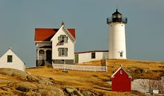 Nubble Lighthouse - originally built 15 min outside Ogunquit, Maine on Rt 1A.  The lighthouse eventually closed  in 1987 the town of York, Maine leased the lighthouse  buildings to restore the integrity.  In 1989, the town of York became the owners of this lighthouse.