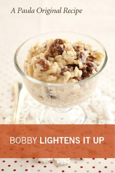 Bobby's Lighter Old Fashioned Rice Pudding