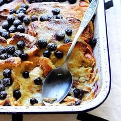 Overnight Blueberry Baked French Toast! So easy, so tasty, and you can prep the whole thing before bed. I've never been this organized in my life - I feel like the Barefoot freaking Contessa over here! recipe link in my profile! xx Sarah