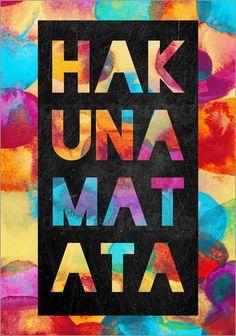 Elisabeth Fredriksson - Hakuna Matata #Motivation #typografie