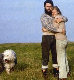 "Paul McCartney and Linda Eastman-McCartney (""Martha My Dear"" with her people, Sir Paul and Linda McCartney)"