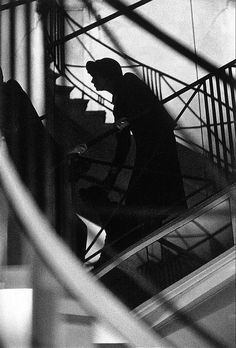 Coco Chanel Watching her Défilé by Frank Horvat, 1958
