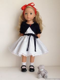 """Комплект для Готц """" морской """" / Одежда для кукол / Шопик. Продать купить куклу / Бэйбики. Куклы фото. Одежда для кукол"""