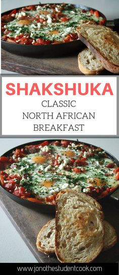 Shakshuka - Our Sweetly Spiced Life - Healthy Food Recipes, Cocktails & more! A healthy breakfast from Morocco. Healthy Sweet Snacks, Nutritious Snacks, Healthy Breakfast Recipes, Healthy Recipes, Healthy Brunch, Shakshuka Recipes, Cheap Clean Eating, Recipes, Clean Eating Snacks