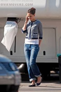 bcb8ecab6ab2 Katie Holmes wearing her Tory Burch Eddie Flats @ #MoshPosh Katie Holmes, Tory  Burch