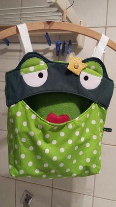 Utensilo ♥♥♥  Klammerbeutel Frosch ♥♥♥ Hän...