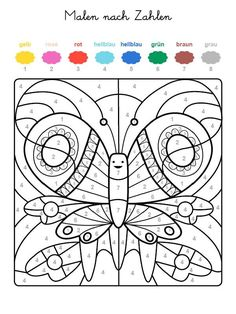 If your child has the whole motif on the free template with the colors … – Motivational Color Activities, Activities For Kids, Colouring Pages, Coloring Books, Coloring Pages Inspirational, Color By Numbers, Quotes Deep Feelings, Primary School, Life Skills