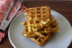 latke waffles by SK. 2 large or 4 medium (2 pounds) Russet or baking potato, peeled  1 medium onion (about 6 to 8 ounces), peeled  2 teaspoons baking powder  1 1/2 teaspoons table or fine sea salt  Freshly ground black pepper  1/2 cup plus 2 tablespoons all-purpose flour  4 large eggs