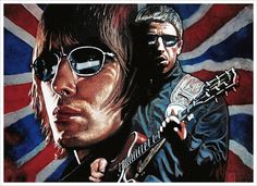 Oasis 08 - The Art of Steve Alce Great Bands, Cool Bands, Oasis Music, Oasis Band, Beady Eye, Noel Gallagher, Britpop, Art Themes, Musica