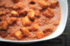 Paneer Butter Masala.. Cottage cheese in a buttery tangy gravy :)