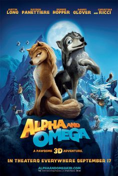 Alpha and Omega , starring Hayden Panettiere, Christina Ricci, Justin Long, Dennis Hopper. Two young wolves at opposite ends of their pack's social order are thrown together into a foreign land and need each other to return home, but love complicates everything. #Animation #Adventure #Comedy #Family #Romance