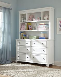 Another perfect piece for D&D's room. This with the small bookcase, two toddler beds, and a lil nightstand... All in black with blue, brown, and white fabrics and decorations