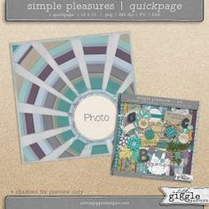 {Simple Pleasures} Quick Page | A Little Giggle Designs