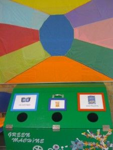 Great project to recycle juice containers in school.