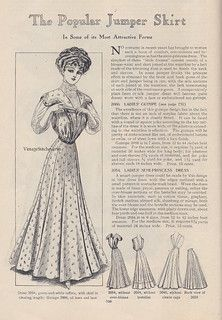 From the collection of Jessica H. Jaeger The Popular Jumper Skirt Victorian Gown, Edwardian Dress, Edwardian Era, 1900s Fashion, Edwardian Fashion, Vintage Fashion, Fashion Goth, Vintage Beauty, Historical Women