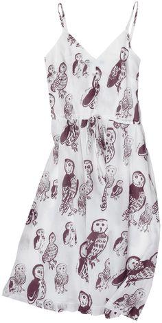 Owl print Ballerina Dress from Virginia Johnson #owl #dress