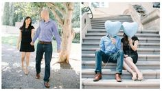 Downtown LA engagement shoot styling (http://www.lingyeungb.com/)