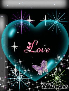 Stunning image - - from the clip art category animated Love Messages gifs & images! I Love You Images, Love Heart Images, Love You Gif, Beautiful Love Pictures, Heart Pictures, I Love Heart, Beautiful Gif, Heart Wallpaper, Butterfly Wallpaper