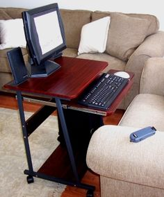 Superbe 5806 Practical Portable Compact Computer Desk Used In Fornt Of Sofa