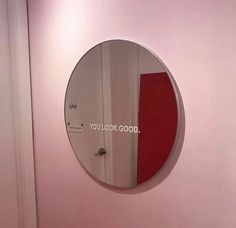 you look good + pink aesthetic + mirror My New Room, My Room, Color Composition, Foto Fantasy, Mirror Stickers, Cool Mirrors, Painted Mirrors, Style Vintage, Decorating Rooms