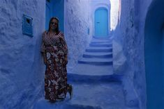 Um dia em Chefchaouen Dresses With Sleeves, Long Sleeve, Fashion, Grand Mosque, Blue Pearl, Morocco, Gowns With Sleeves, Moda, Sleeve Dresses