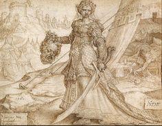 Maarten van Heemskerck, Giuditta e Oloferne, 1560,  Paul Getty Museum Los Angeles
