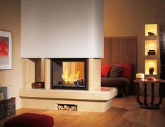 Sa couleur crème saura illuminer et réchauffer parfaitement votre intérieur. Home Decor, Fireplaces, Images, Winter Garden, Home Ideas, Home Decoration, Modern, Fireplace Set, Decoration Home