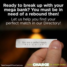 Take Charge of Your Card by breaking up with your mega-bank credit card. We hear from people every day on how they made the switch and you can too! http://www.greenamerica.org/take-charge-of-your-card #MegaBanks #CreditCards #CreditUnions #Community #Investing Green America