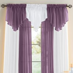 Scenario® Sheer Voile Ascot Valance - Home and Garden Design Ideas