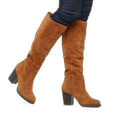 Whip it Boot...such pretty suede, and I like that heel!