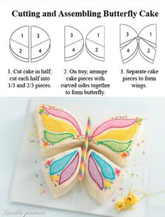 Butterfly cake!  So pretty for a springtime occasion!