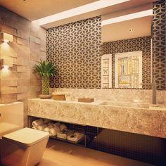#mulpix E o lavabo Masculino de residência no Eusébio-CE #septimusdesigner #designerdeinteriores #designdeinteriores #design #interiores #interiordesign #lavabo #iluminação #papeldeparede #deca #banheiro #bathroom #eusebio #ceara