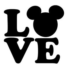 Love Mickey Mouse Ears SVG file for Cricut Image Mickey, Mickey Love, Disney Ears, Mickey Minnie Mouse, Mickey Mouse Stencil, Disney Stencils, Images Disney, Disney Crafts, Window Stickers