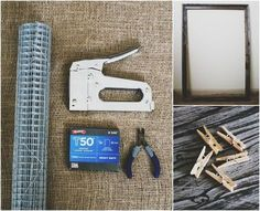 diy inspiration mood board, crafts, What you ll need frame wire roll wire cutters staple gun staples mini clothespins