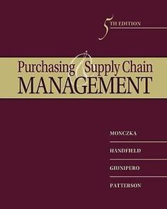 Sourcing and Supply Chain management 5th Int'l Edition