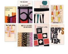 Grove Press covers designed by Roy Kuhlman.