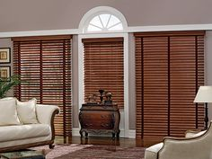 """21/2"""" Shutter Style Wood Blinds with Cord Lift/Cord Tilt and Cloth Tape in Maroon 2360: Dark Cherry S014; 31/2"""" Legacy Valance."""