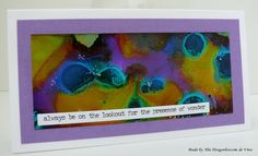 Yupo card with alcohol Inks, made by Alie Hoogenboezem-de Vries
