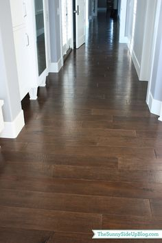 I'm curious to know about your flooring – I love it! Where did you purchase it? What is the color? I love the dark look, but have been told it's super hard to keep clean. Thoughts?? I've had so many questions coming in over the past few weeks about my hardwood floors. Thank you for …