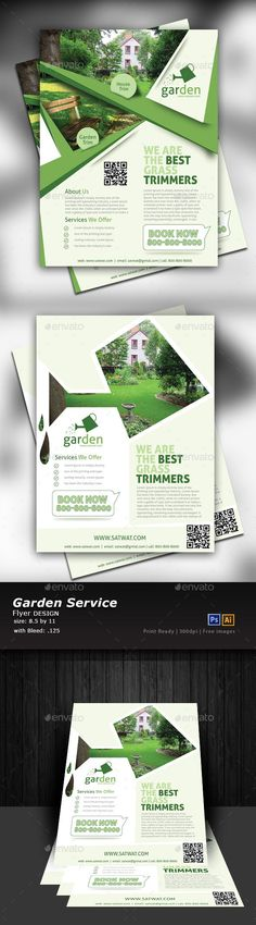 Lawn Care Flyer Templates PSD, Vector EPS, AI Illustrator