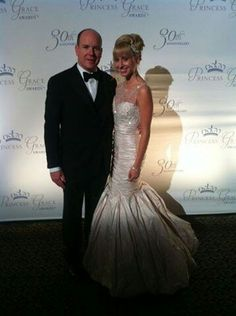 Prince Albert of Monaco with his daughter Jazmin Grace Grimaldi at the Princess Grace Awards in NYC, October 22,2012