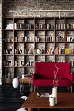 Regál na knihy do obývačky