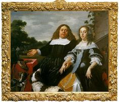 Bartholomeus van der Helst . Jan J. Hinlopen with his second wife Lucia Wijbrants (1665, Частная коллекция)