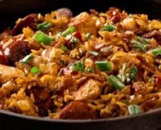 Aito jambalaya, New Orleansin perinteiseen tyyliin.  Mahtava, mausteinen ruoka. Sokeriton, kananmunaton. Reseptiä katsottu 55396 kertaa. Reseptin tekijä: Matprat.