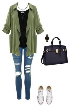"""""""Untitled #518"""" by taylor-edmonds ❤ liked on Polyvore featuring Topshop, Bobeau, Converse and Olivia Burton"""