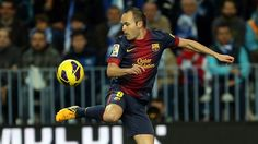 Player No. 8 Andres Iniesta