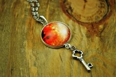 Universe necklace with key figure silver plated by Bernsteinufer