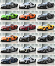 2016 McLaren 570S Colors