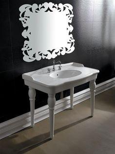 Bathroom Basin with Legs - Ceramic Wash Basin - 1120mm x 610mm x 910mm