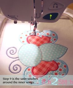 Embroidery appliqué tutorial and free design